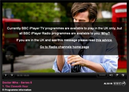 BBC IPlayer with French IP Address